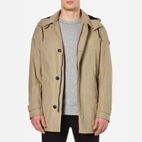 Boss Orange Men's Otorio Hooded Coat Medium Beige