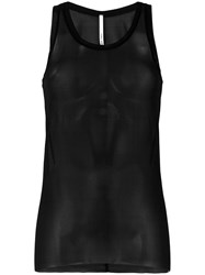 Isabel Benenato Sheer Tank Black
