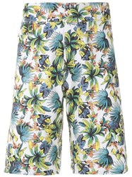 Amir Slama Foliage Print Swim Short White