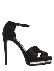 Alexander Mcqueen 130Mm Satin Ankle Strap Sandals