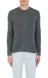Rag And Bone Men's Garrett Henley Light Grey