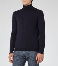 Reiss Observe Mens Rollneck Jumper In Blue