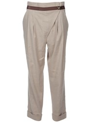 Matthew Williamson Cropped Peg Trouser Nude And Neutrals