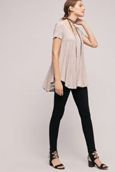 Anthropologie Paige Hoxton High Rise Skinny Jeans Black Shadow