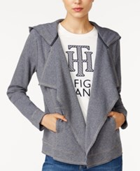 Tommy Hilfiger Draped Hooded Cardigan Only At Macy's Heather Grey
