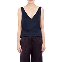 Maiyet Plisse Cross Back Tank Navy