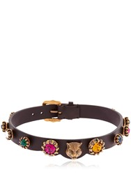 Gucci Leather Choker W Crystals