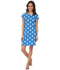 Hatley T Shirt Dress Thistle Royal Women's Dress Blue