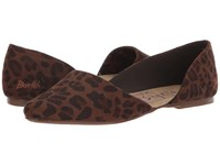 Blowfish Madera Brown Autumn Leopard Micro Deluxe Flat Shoes Animal Print