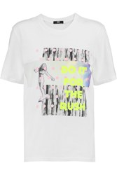 Markus Lupfer Printed Cotton Jersey T Shirt White