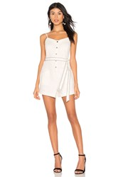 Splendid La Paz Twill Romper Antique Off White