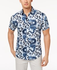 Inc International Concepts Men's Dragon Shirt Created For Macy's White Combo