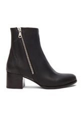 Rag And Bone Rag And Bone Avery Leather Low Booties In Black