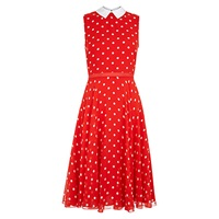 Hobbs Hattie Dress Red Ivory