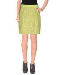 Cristinaeffe Collection Skirts Mini Skirts Women Acid Green