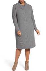 Caslonr Plus Size Women's Caslon Cowl Neck Sweater Dress