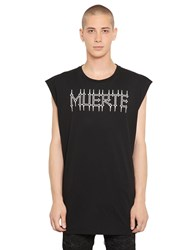 Marcelo Burlon Orlando Sleeveless Cotton Jersey T Shirt