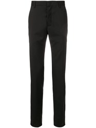 Lanvin Tailored Stripe Slim Trousers Black