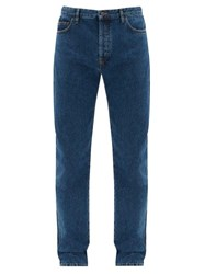 The Row Irwin Straight Leg Washed Jeans Blue