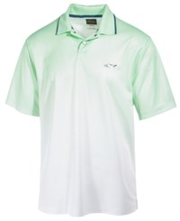 Greg Norman For Tasso Elba Men's Performance Dip Dye Polo Only At Macy's Green Ash