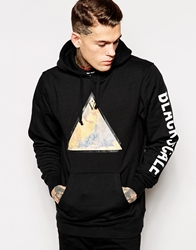 Black Scale Hoodie With Arm Print