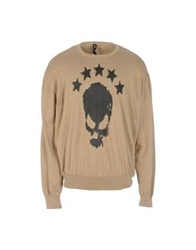 Bad Spirit Crewneck Sweaters Khaki