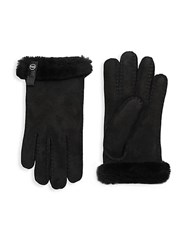 Ugg Sheepskin And Dyed Shearling Tenney Gloves Black