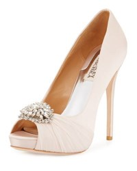 Badgley Mischka Pettal Crystal Peep Toe Pump Pink Pattern