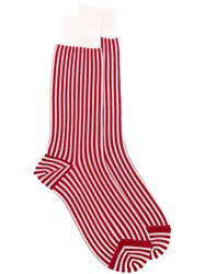 Haider Ackermann Striped Socks Red