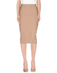Manila Grace Skirts 3 4 Length Skirts Women Dove Grey