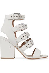 Laurence Dacade Kloe Buckled Leather Sandals White