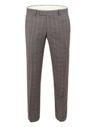 Racing Green Check Tailored Fit Suit Trouser Grey