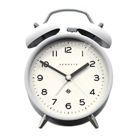 Newgate Charlie Bell Echo Alarm Clock Matt Pebble White