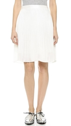 Clu Pleated Skirt White