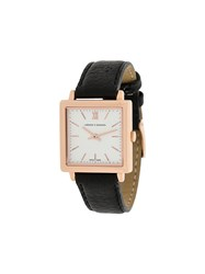 Larsson And Jennings Ljxii Norse Leather 34Mm Watch Black