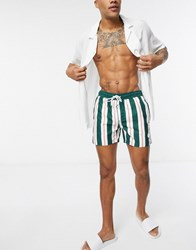 Native Youth Striped Swim Short Green