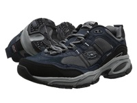 Skechers Vigor 2.0 Trait Navy Grey Men's Lace Up Casual Shoes Gray