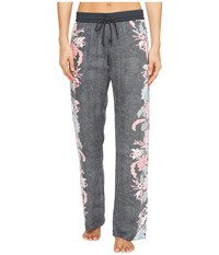 Pj Salvage Floral Lounge Pants Grey Women's Casual Pants Gray