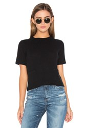 Autumn Cashmere Ribbed Boxy Tee Black