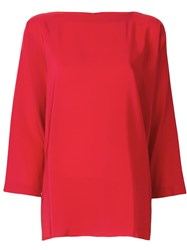 Daniela Gregis Loose Fit Blouse Red