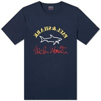 Paul And Shark X Nick Wooster Large Logo Tee Blue