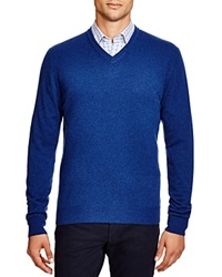 The Men's Store At Bloomingdale's Cashmere V Neck Sweater Pacific Blue