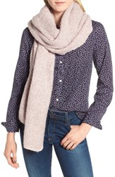 Barbour Boucle Scarf Pink