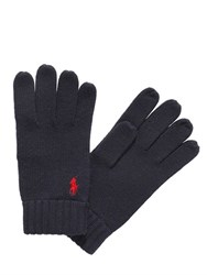 Polo Ralph Lauren Merino Wool Gloves With Logo Detail