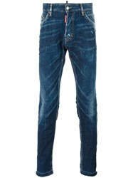 Dsquared2 Cool Guy Whiskered Effect Jeans Blue