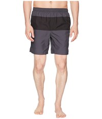 Fred Perry Panelled Swimshorts Charcoal Swimwear Gray