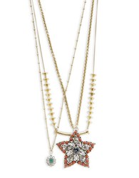 Gerard Yosca Star Pendant Layer Necklace Gold