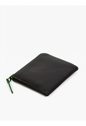 Comme Des Garcons Green Marvellous Zip Coin Wallet