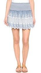 Loveshackfancy Beach Miniskirt Denim