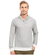 Agave Seneca Long Sleeve French Terry Shawl Heather Grey Men's Coat Gray